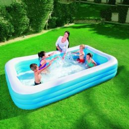 Bestway 10ft x 6ft Deluxe Kids Big Family Inflatable Large Paddling Pool Pools